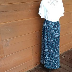 A long dress skirt with an Old Navy blouse.